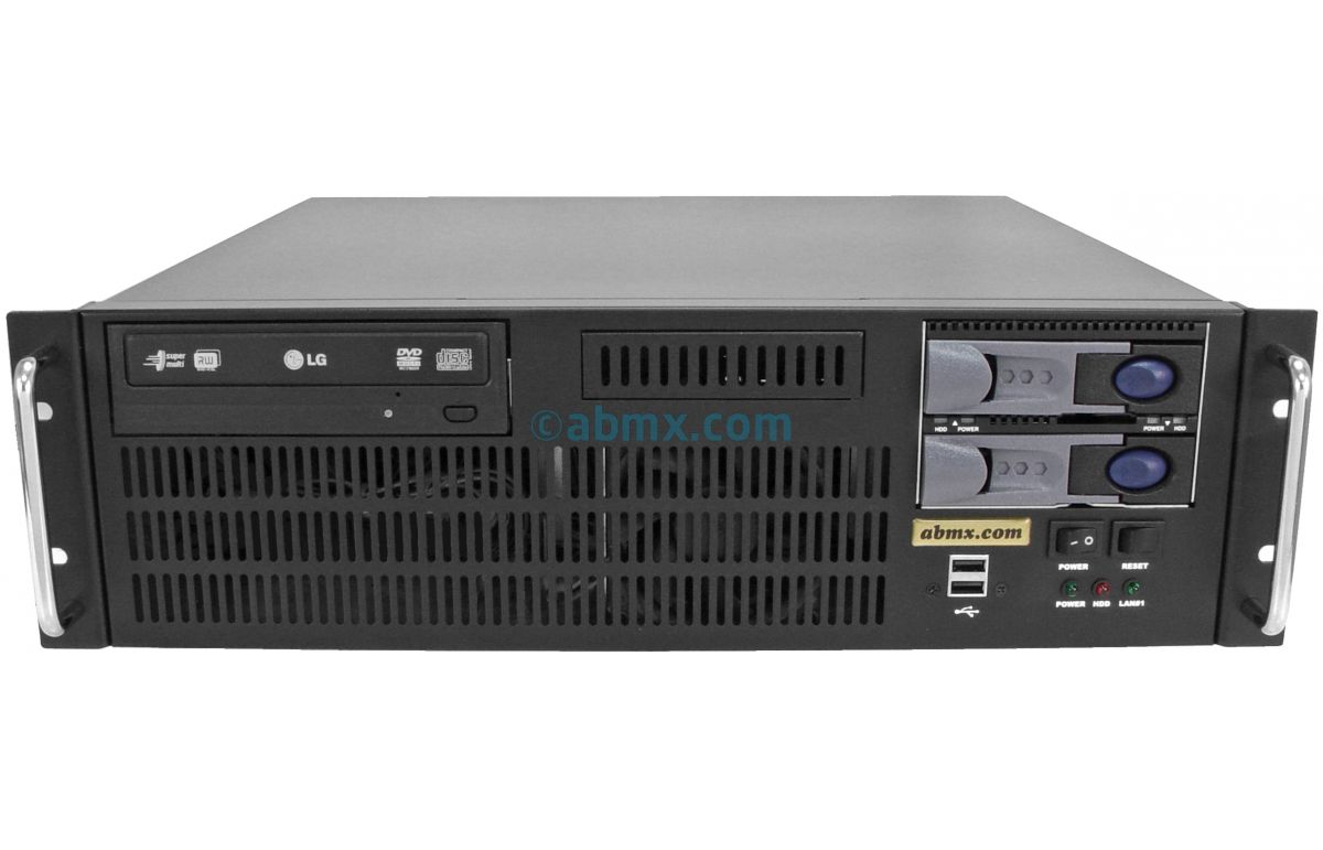 3U Short Depth Server - 2 Hot-swap + 2 Fixed Bays - 3 PCI-E 3.0 x16 slots-2