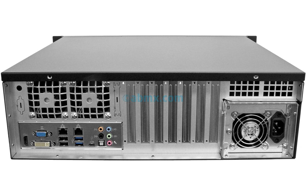 3U Short Depth Server - 2 Hot-swap + 2 Fixed Bays - 3 PCI-E 3.0 x16 slots-3