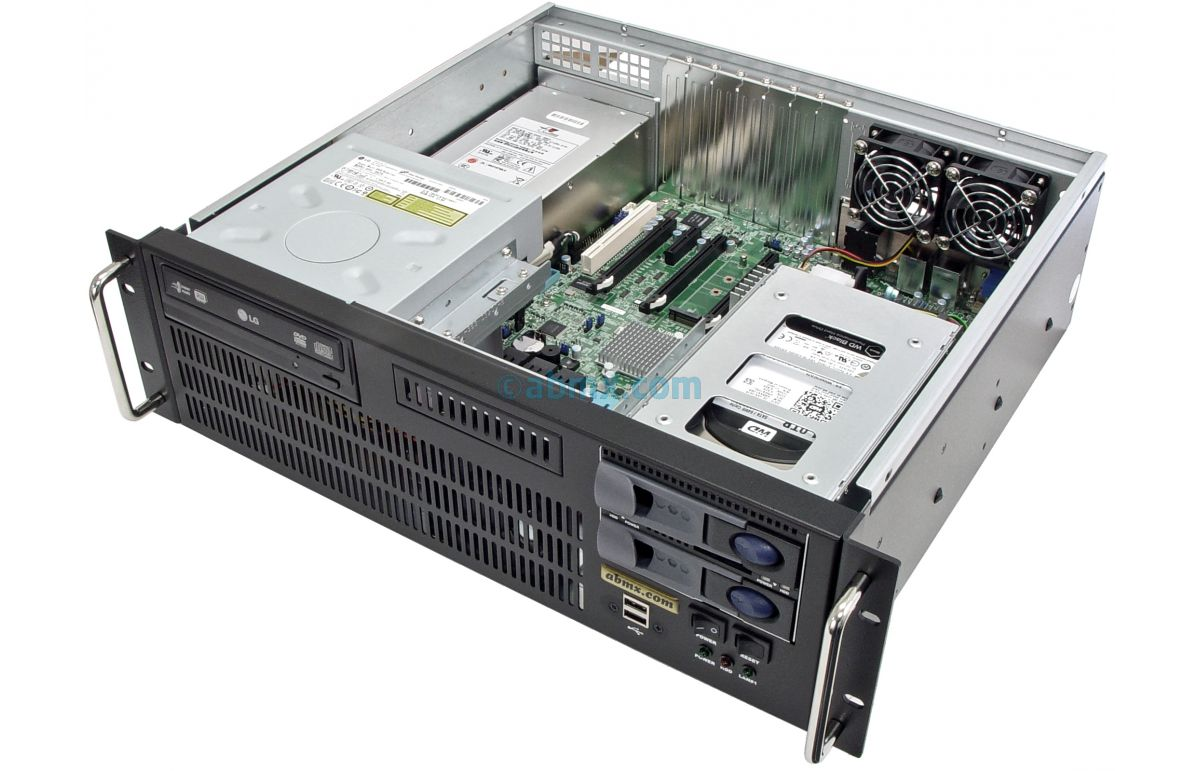 3U Short Depth Server - 2 Hot-swap + 2 Fixed Bays - 3 PCI-E 3.0 x16 slots-5