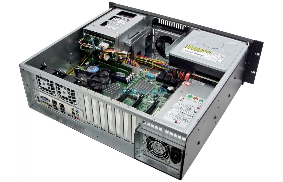 3U Short Depth Server - 2 Hot-swap + 2 Fixed Bays - 3 PCI-E 3.0 x16 slots-6