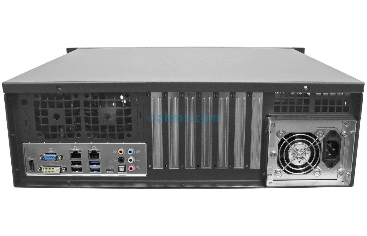 3U Short Depth Server - Up to 4 Fixed Bays - 3 PCI-E 3.0 x16 slots-3