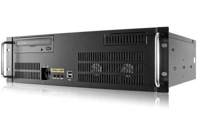 3U Short Depth Server - Up to 4 Fixed Bays - 3 PCI-E 3.0 x16 slots-front