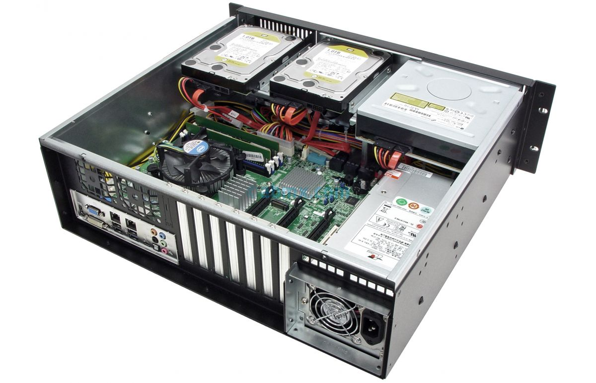 3U Short Depth Server - Up to 4 Fixed Bays - 3 PCI-E 3.0 x16 slots-6