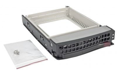 Hot-swappable 3.5-inch HDD Tray (MCP-220-00075-0B)-front