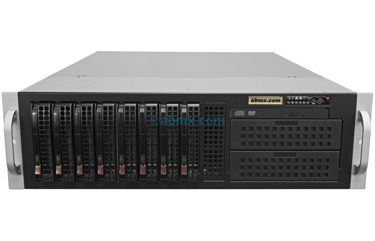 3U Rack Server - Dual Xeon - 8 Hot-swap Bays - Redundant Power-2