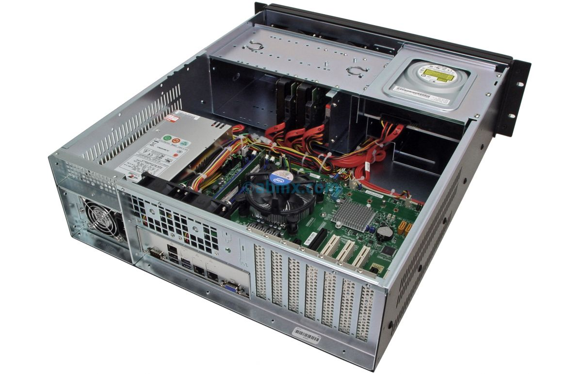 3U Rack Server - 4 PCI 5V 32-bit and 3 PCI-e slots-6
