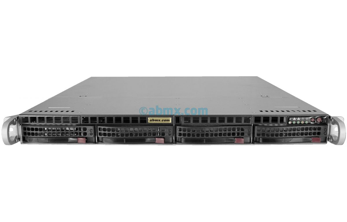 1U Rackmount Server - 4 Hot-Swap Bays - 4 LAN ports - 48V DC Power-2