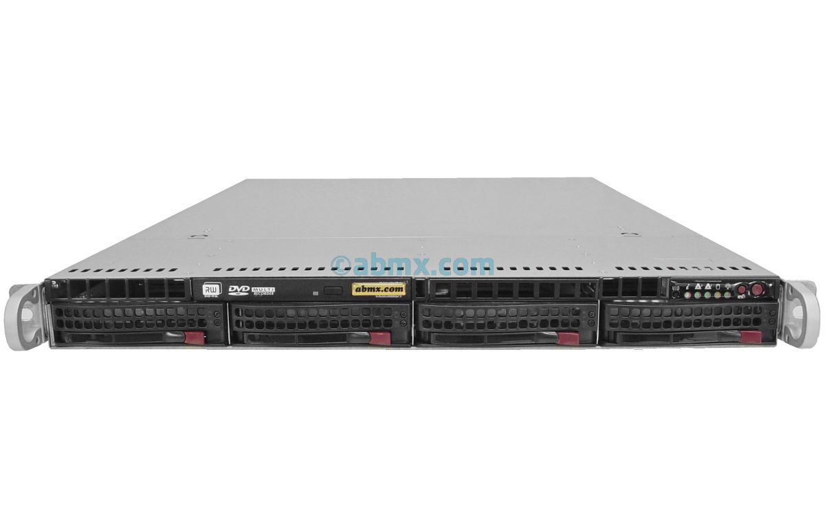 1U Rackmount Server - Dual Xeon E5 - 4 Hot-swap Bays - 48V DC Redundant Power-2