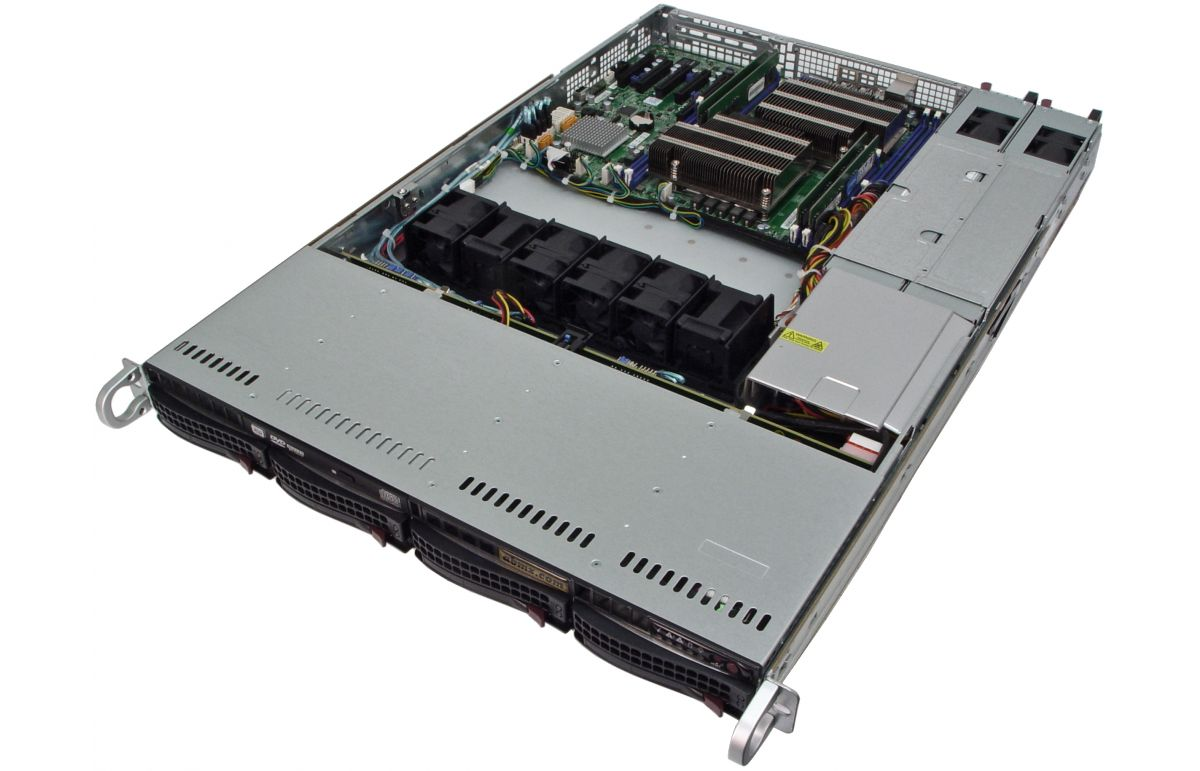 1U Rackmount Server - Dual Xeon E5 - 4 Hot-swap Bays - 48V DC Redundant Power-5