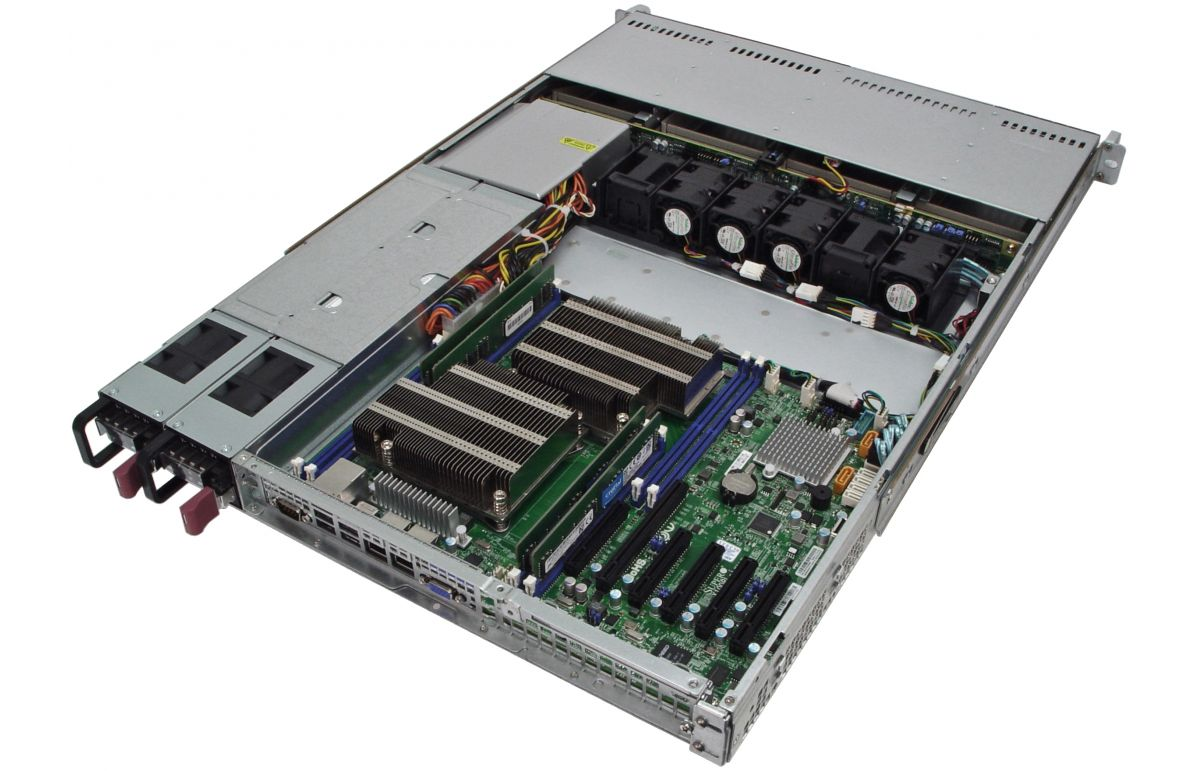 1U Rackmount Server - Dual Xeon E5 - 4 Hot-swap Bays - 48V DC Redundant Power-6