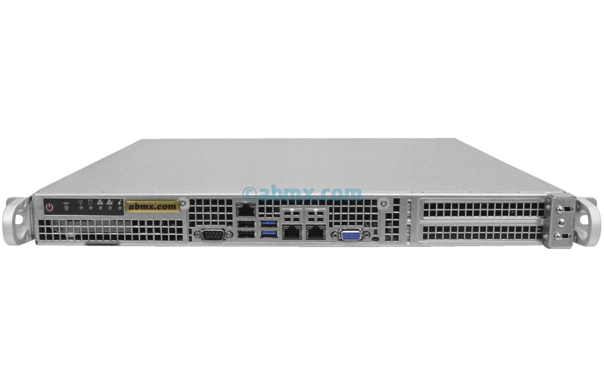 1U Short Depth Server - Front I/O - 2 Full-Height PCIe slots-2