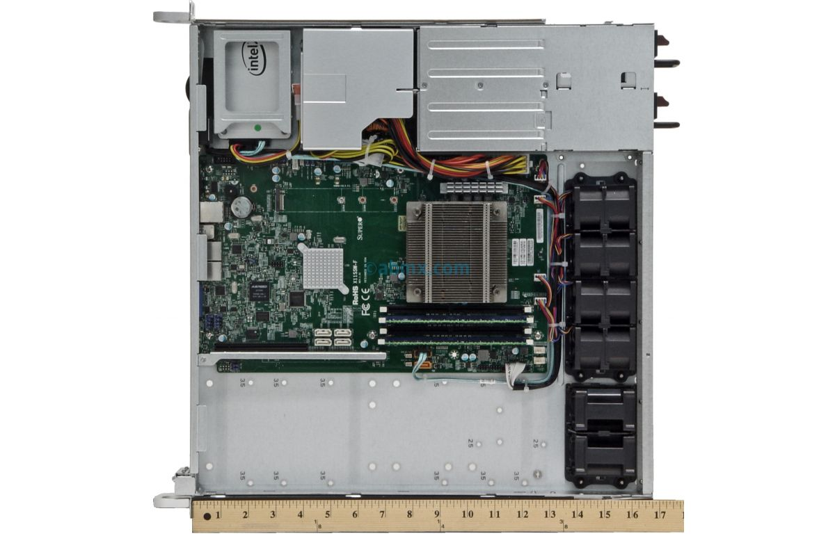 1U Short Depth Server - Front I/O - 2 Full-Height PCIe slots-7