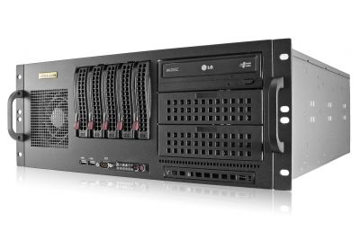 4U Rack Server - Xeon E5 - 5 Hot-swap Bays-front