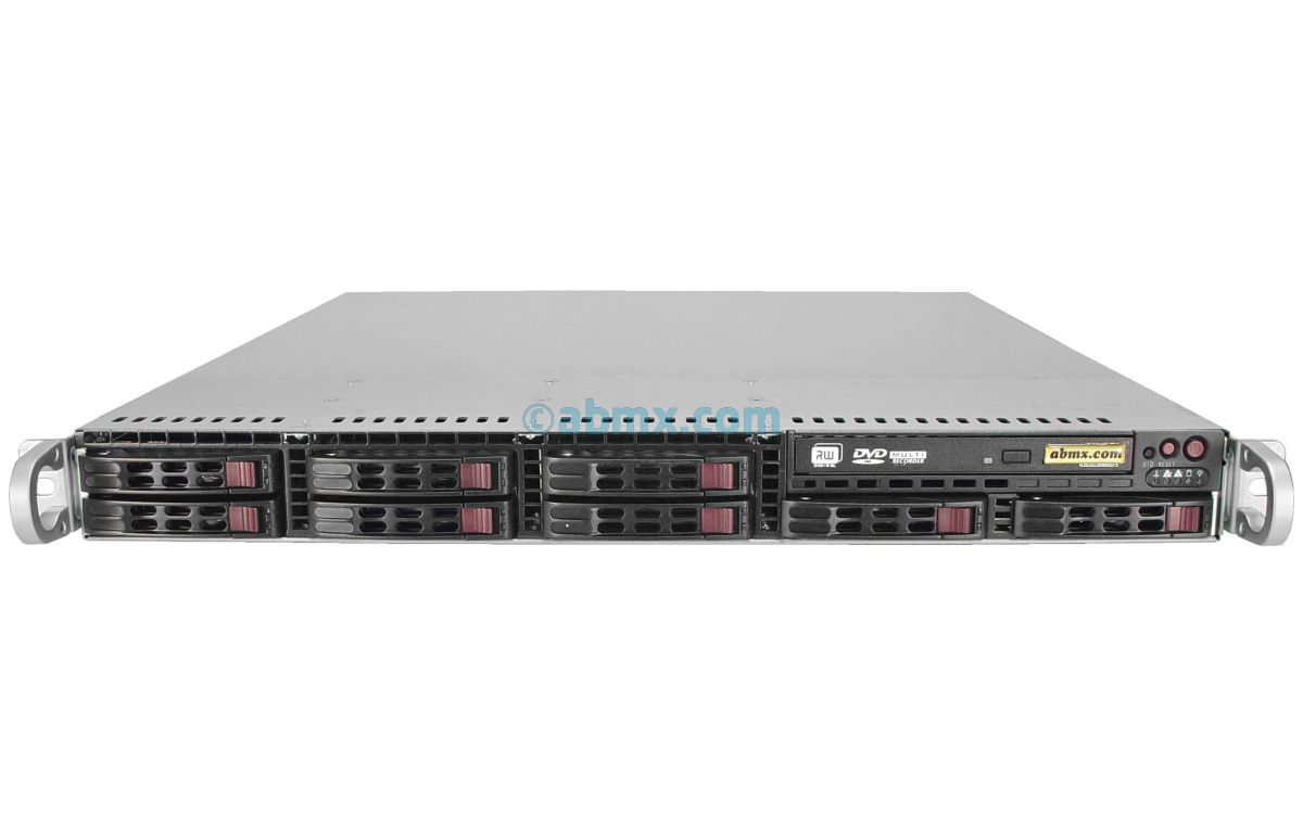 1U Rackmount Server - 8 Hot-Swap Bays - 2 Full-Height PCIe slots-2