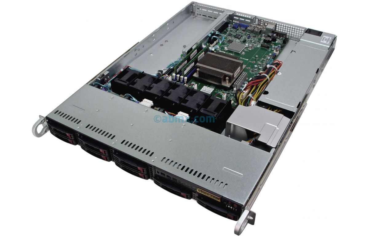 1U Rackmount Server - 8 Hot-Swap Bays - 2 Full-Height PCIe slots-5