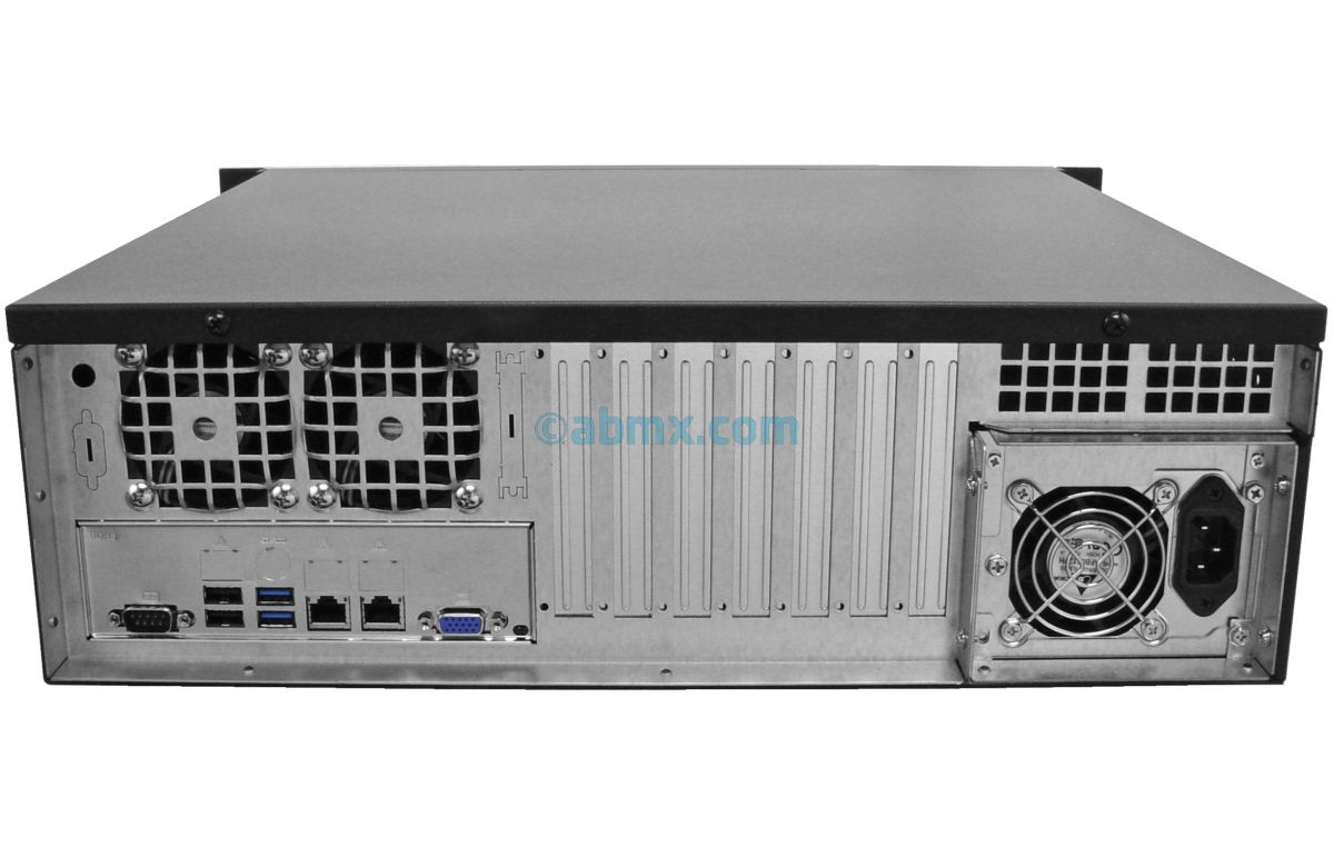 3U Short-Depth Server - 2 Hot-swap + 2 Fixed Bays - 4 PCI-e 3.0 slots-3