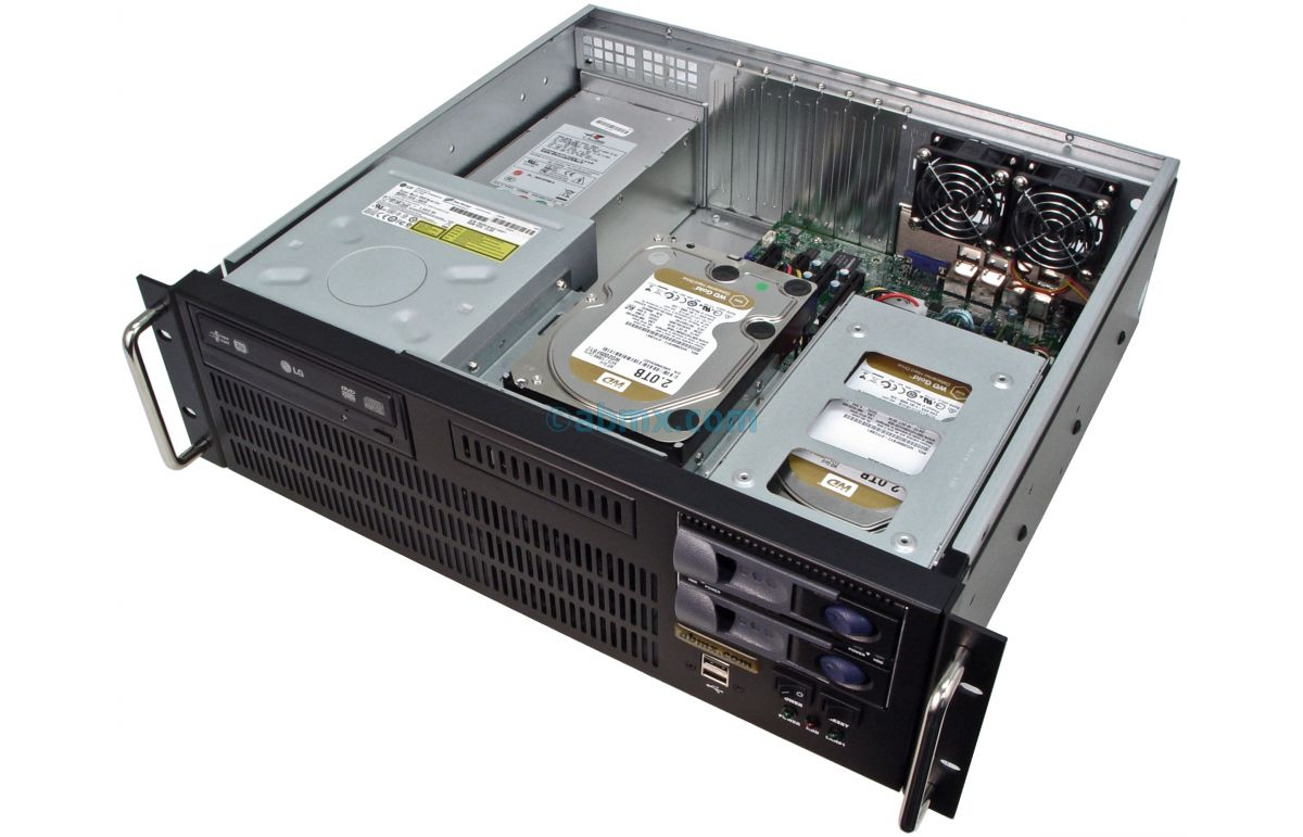 3U Short-Depth Server - 2 Hot-swap + 2 Fixed Bays - 4 PCI-e 3.0 slots-5