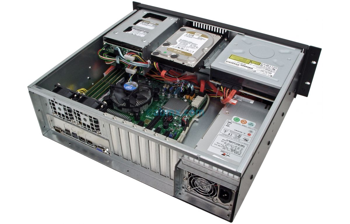 3U Short-Depth Server - 2 Hot-swap + 2 Fixed Bays - 4 PCI-e 3.0 slots-6