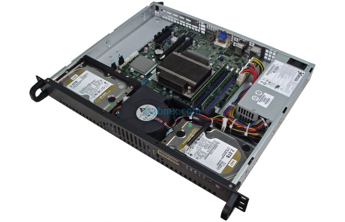 1U Short Depth Server w/ 2 x Display Ports-6