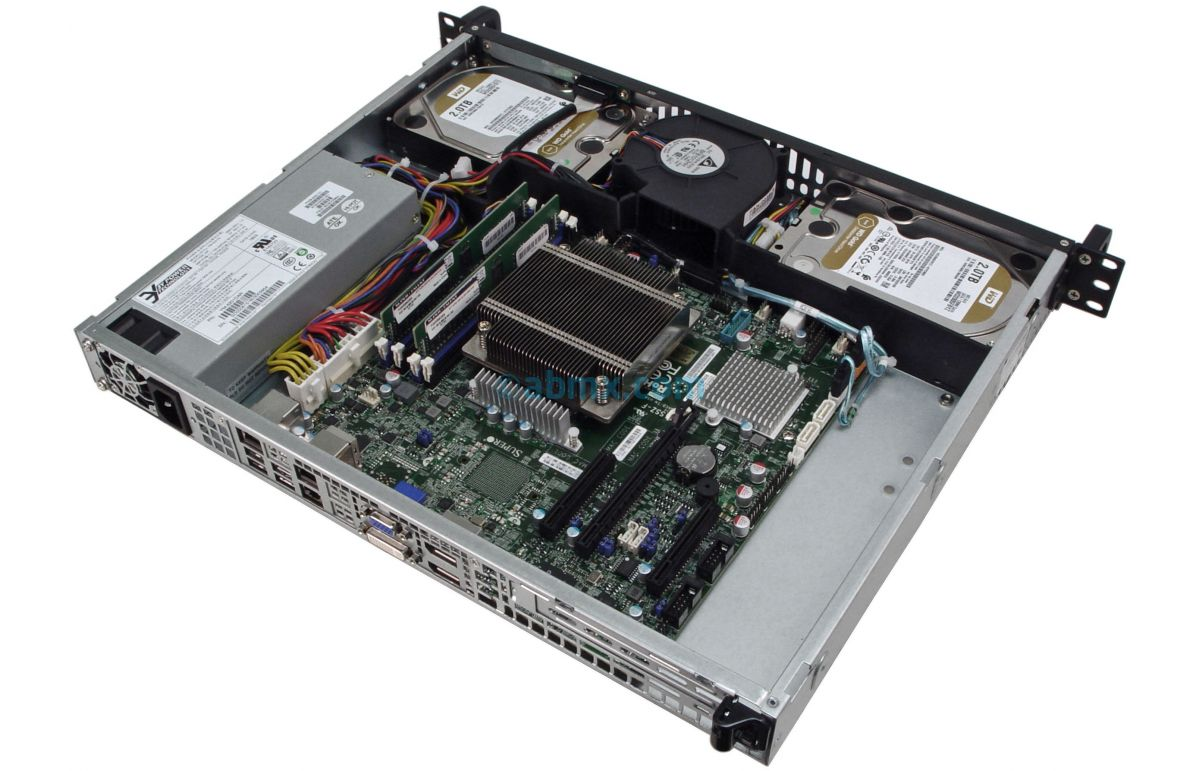 1U Short Depth Server w/ 2 x Display Ports-7