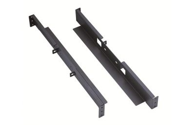 Mounting support brackets for 100mm 2-post open racks-front