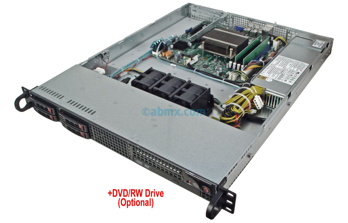 1U Rackmount Server - Xeon E - 4 x 2.5-inch Hot-swap Bays-5