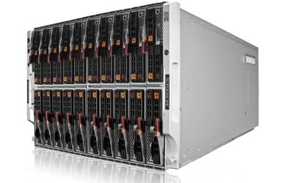 8U Enclosure - up to 20 x hot-swap HH 2-socket blades-front